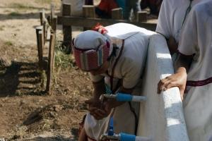 Schoon drinkwatervoorziening in gebruik