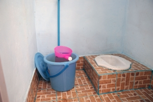 Toiletgedeelte in slaapgebouw