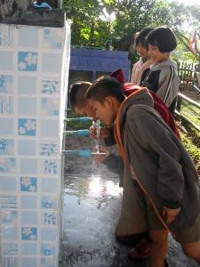 Schoon drinkwater installatie in gebruik