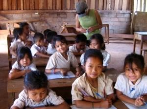Kinderen in de schoolbanken